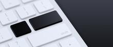Modern Keyboard With Blank Bla...