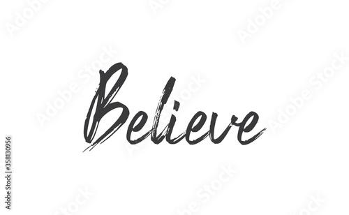 Believe Lettering Wallpaper Mural