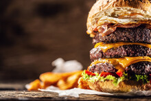 Triple Cheeseburger Detail Wit...