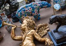 Flea Market In Paris., France....