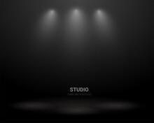 Dark Room With Studio Light Ba...