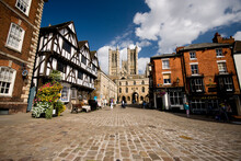 A View Of The Cathedral From Castle Square, Lincoln, Lincolnshire, UK -August 2009