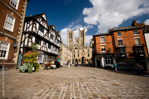 Photo A view of the Cathedral from Castle Square, Lincoln, Lincolnshire, UK -August 20