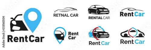 Vector logo for a car rental company Fototapete