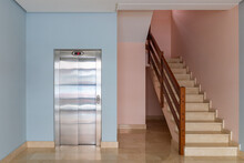 View Of The Elevator And Stair...