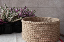 Handmade Knitted Basket Made O...