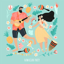 Hawaiian Party Concept With A ...