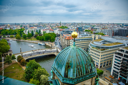 Photo The Berlin cathedral and Fernsehturn television tower stand side by side as respected icons of the city