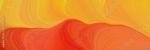 Fotografie, Obraz colorful and elegant vibrant abstract artistic waves graphic with modern waves b