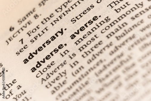 Dictionary definition of the word adversary adverse Canvas Print