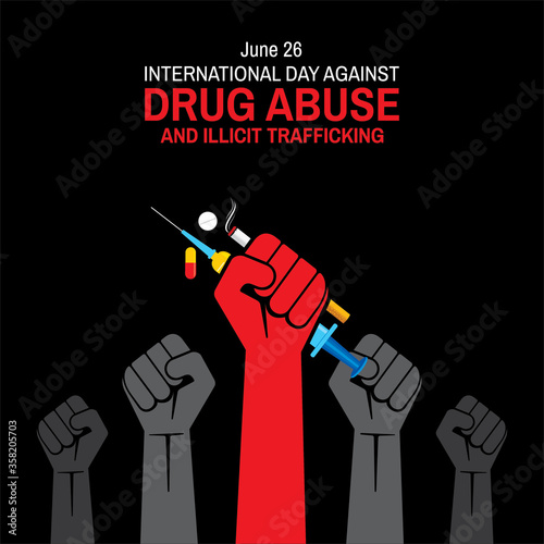International Day against DRUG ABUSE and illicit trafficking Canvas Print