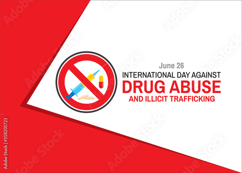 International Day against DRUG ABUSE and illicit trafficking Wallpaper Mural