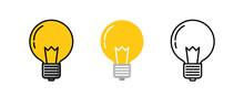Light Bulb Logo Icon Three Des...