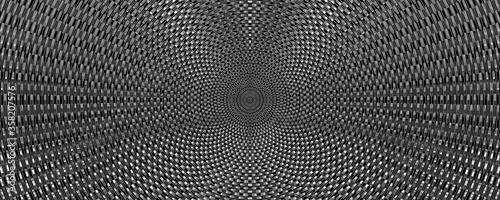 Fotografia 3d metallic circular chain background