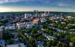 Aerial landscape of White Plains, New York