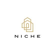 Niche Door Window Shape Logo V...