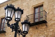 Old Metal Street Lamps Close Up