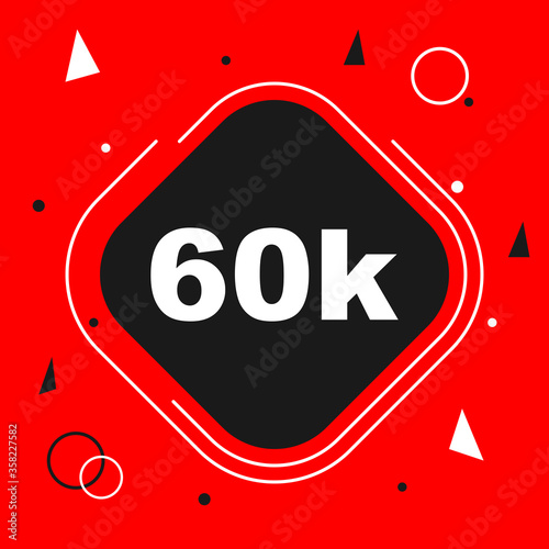 Obraz na plátně 60k followers thank you background