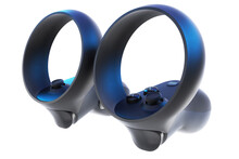 3D Render Of VR Controllers On...