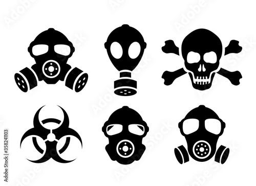 Fotografija Toxic danger vector signs set