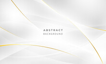 Abstract Grey And Gold Background Poster With Dynamic Waves. Technology Network Vector Illustration.