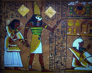 Painting oil color The art of Egypt is beautiful