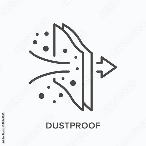 Foto Dustproof flat line icon