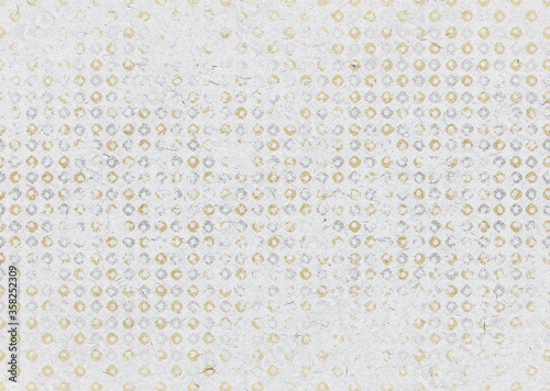 Fototapeta 和紙_25_金銀 obraz na płótnie