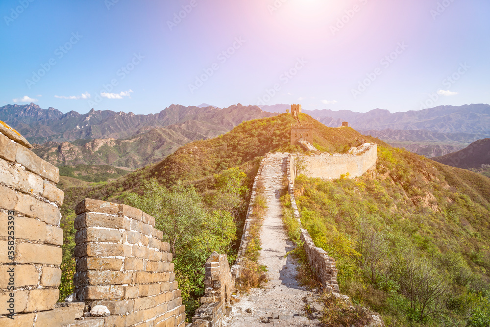 Beijing Great Wall in China, the majestic Great Wall, a symbol of China.