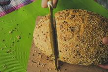 Sliced Loaf Of Homemade Bread ...