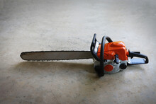 Small Chainsaw On The Ground