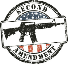 Grunge Stamp Second Amendment;...