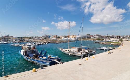 Fotografie, Tablou Vista del porto di San Foca - Salento