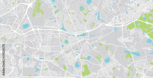 Carta da parati Urban vector city map of Benoni , South Africa.