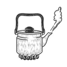 Boiling Kettle Sketch Engravin...