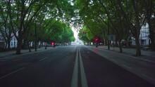 Lisbon Empty Street At Down, U...