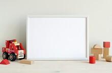 White Horizontal Frame Mockup ...