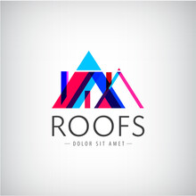 Vector Modern Colorful Roofs L...