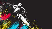 Skateboarder Isolated Vector I...