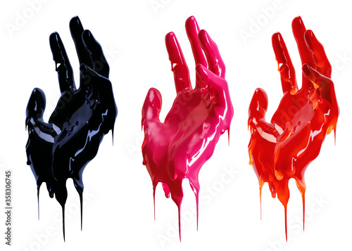 Art liquid abstract design idea Fototapeta