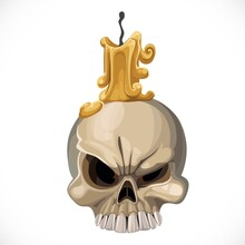 Cute Skull Candle Holder With ...