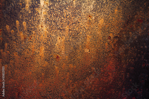 Foto Grunge rusted metal texture, rust and oxidized metal background