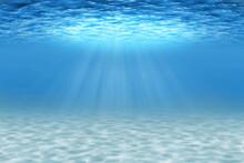 Ocean Underwater Scene With Sa...