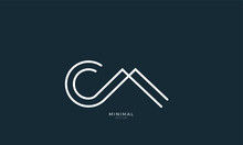 Alphabet Letter Icon Logo CA
