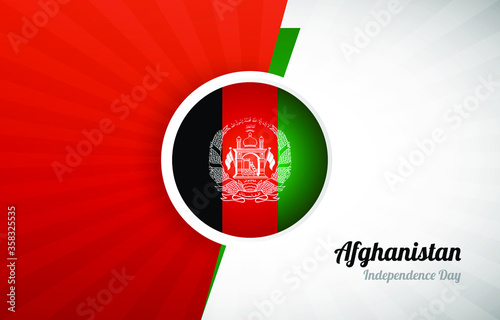 Photo Happy independence day of Afghanistan greeting background