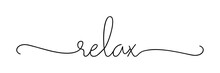 RELAX. Lettering Typography Po...