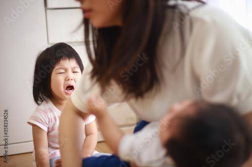 Fotografie, Obraz 泣く女の子