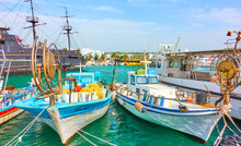 Port With Fishing Boats In Ayi...