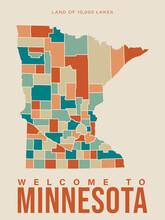 Minnesota Tourist Vector Poste...
