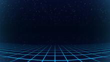 Synthwave Background. Dark Ret...